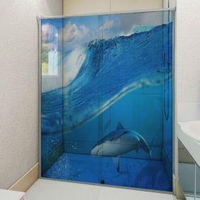 Adesivo Box Banheiro 3d Sob Medida - Mod 134