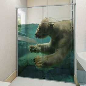 Adesivo Box Banheiro 3d Sob Medida - Mod 141