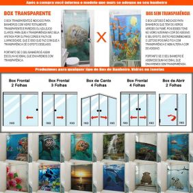 Adesivo Box Banheiro 3d Sob Medida - Mod 144
