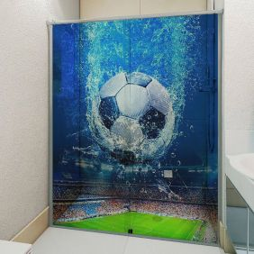 Adesivo Box Banheiro 3d Sob Medida - Mod 146