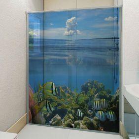 Adesivo Box Banheiro 3d Sob Medida - Mod 150