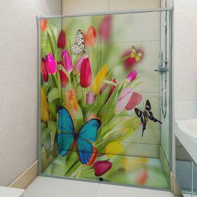 Adesivo Box Banheiro 3d Sob Medida - Mod 168