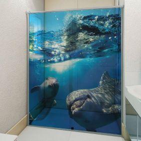 Adesivo Box Banheiro 3d Sob Medida - Mod 183