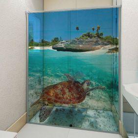 Adesivo Box Banheiro 3d Sob Medida - Mod 184