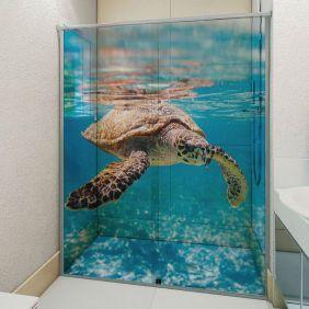 Adesivo Box Banheiro 3d Sob Medida - Mod 185