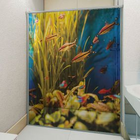 Adesivo Box Banheiro 3d Sob Medida - Mod 189