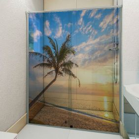 Adesivo Box Banheiro 3d Sob Medida - Mod 209