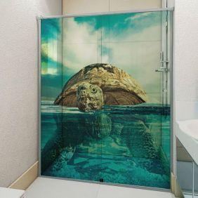 Adesivo Box Banheiro 3d Sob Medida - Mod 23