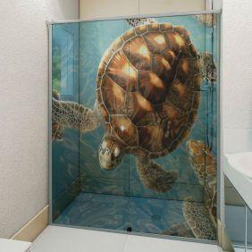 Adesivo Box Banheiro 3d Sob Medida - Mod 24