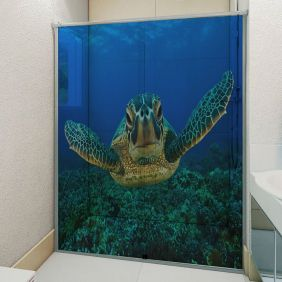 Adesivo Box Banheiro 3d Sob Medida - Mod 25