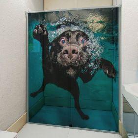 Adesivo Box Banheiro 3d Sob Medida - Mod 2