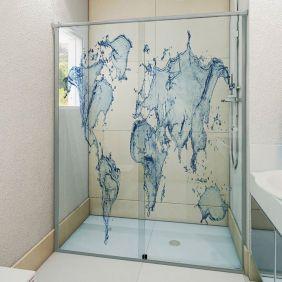 Adesivo Box Banheiro 3d Sob Medida - Mod 43