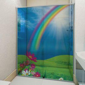 Adesivo Box Banheiro 3d Sob Medida - Mod 55