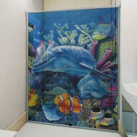 Adesivo Box Banheiro 3d Sob Medida - Mod 59