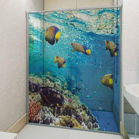 Adesivo Box Banheiro 3d Sob Medida - Mod 67