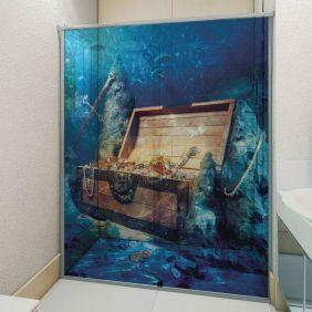 Adesivo Box Banheiro 3d Sob Medida - Mod 70