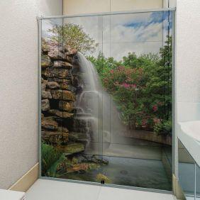 Adesivo Box Banheiro 3d Sob Medida - Mod 75