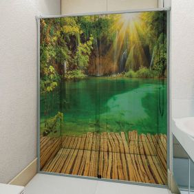 Adesivo Box Banheiro 3d Sob Medida - Mod 79