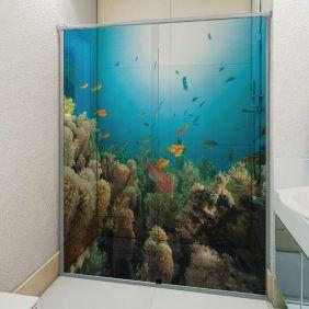 Adesivo Box Banheiro 3d Sob Medida - Mod 82