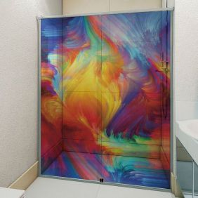 Adesivo Box Banheiro 3d Sob Medida - Mod 87