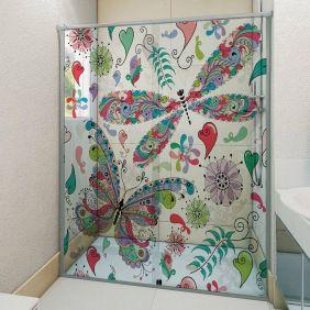 Adesivo Box Banheiro 3d Sob Medida - Mod 93