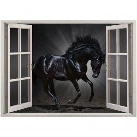 Adesivo de Parede  Janela Cavalo Rei 1,4x1m