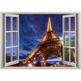 Adesivo de Parede  Janela Paris 1,4x1m