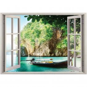 Adesivo de Parede  Janela Tailândia 1,4x1m