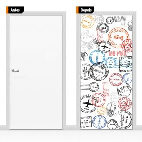 Adesivo Decorativo Para Porta Cri06