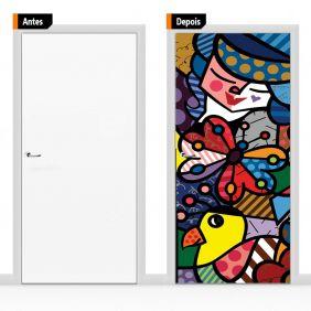 Adesivo Decorativo Porta Romero Brito01