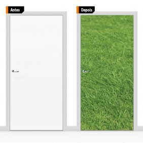 Adesivo Decorativo Porta Textura Grama Pex20