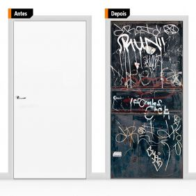 Adesivo Decorativo Porta Textura Pex09