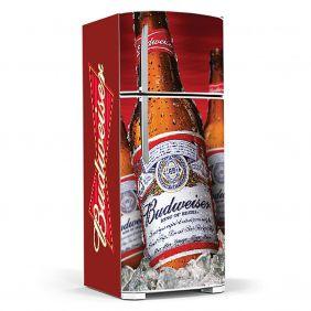 Adesivo Para Geladeira Budweiser