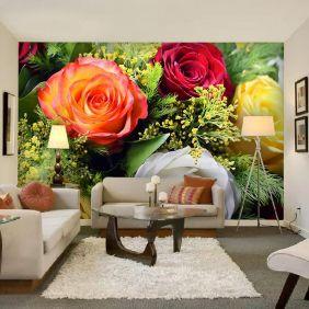 Painel Adesivo Fotográfico Floral Flores 7,2m² M2