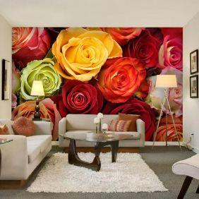 Painel Adesivo Fotográfico Floral Flores 7,2m² M3