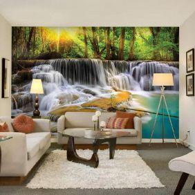 Painel Adesivo Fotográfico Parede Cachoeira 7,2m² M9