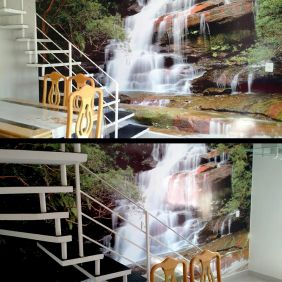 Painel Adesivo Parede Paisagem Cachoeira Natureza M²
