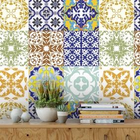 Papel De Parede Para Cozinha Azulejo Português Lavável Mod10