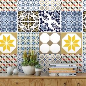 Papel De Parede Para Cozinha Azulejo Português Lavável Mod12
