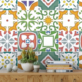 Papel De Parede Para Cozinha Azulejo Português Lavável Mod15