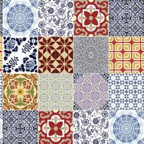 Papel De Parede Para Cozinha Azulejo Português Lavável Mod16