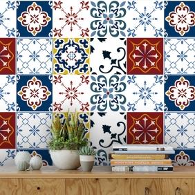 Papel De Parede Para Cozinha Azulejo Português Lavável Mod17