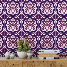 Papel De Parede Para Cozinha Azulejo Português Lavável Mod37
