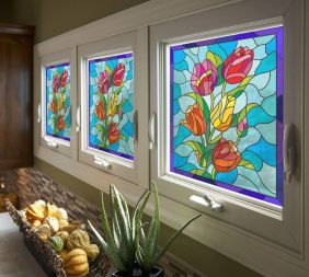 Vitral Adesivos Para Vidros Portas Janelas Ref M4