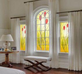 Vitral Adesivos Para Vidros Portas Janelas Ref M5