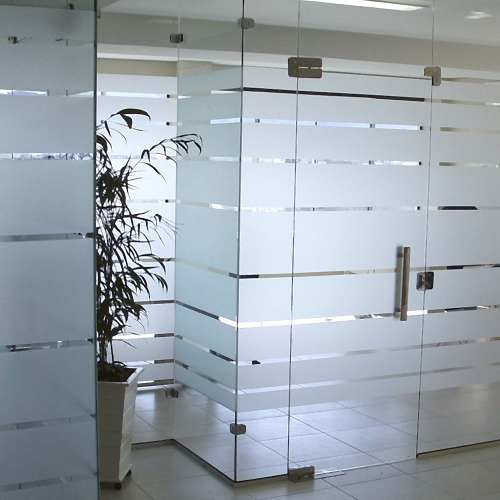 Adesivo Jateado Para Vidro - Box, Janelas E Portas Ref- M1