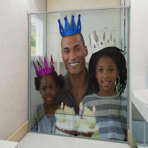 Personalizado Com Foto Adesivo Box Banheiro 3d 4 Folhas