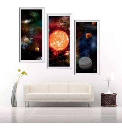 Painel Adesivo Parede Astronomia Planetas Mod3