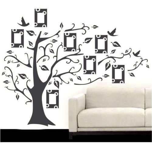 Adesivo Decorativo Árvore Porta-retratos Para Sala Quarto