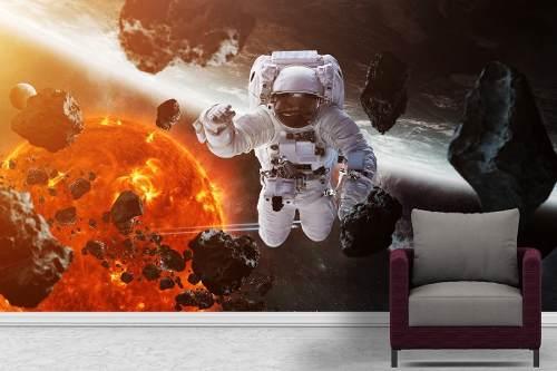 Painel Fotográfico Parede Astronauta Auto Colante 7m²